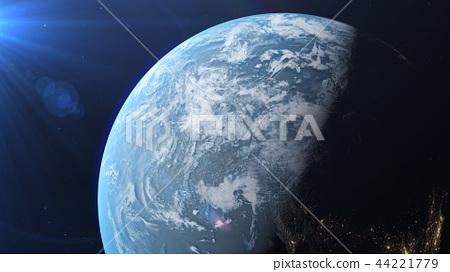Earth 3DCG perming3DCG160812插圖素材 44221779