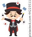 魔術師 魔術 撲克牌 44223511