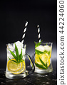 Marijuana lemonade with ice in a jar 44224060