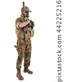 Private Military Company operator with rifle 44225216