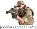 Private Military Company operator with rifle 44225219