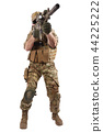 Private Military Company operator with rifle 44225222