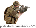 Private Military Company operator with rifle 44225225