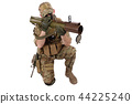 Private Military Company operator with RPG rocket 44225240
