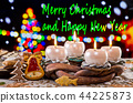 Advent Wreath with text Merry Christmas  44225873