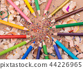 Color Pencils over a notebook 44226965