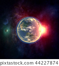 Planet earth from outer space  44227874