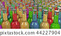 many glass bottles in different colors 44227904
