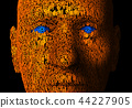 Human face composed of zeroes and ones 44227905