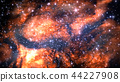 Fictitious star-field, nebulae, sun and galaxies 44227908