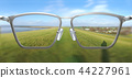 3D Illustration of clear vision through glasses 44227961