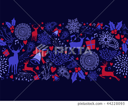 Christmas season holiday pattern decoration 44228093