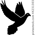 Flying dove icon 44231303