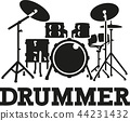 Drum set with word drummer 44231432
