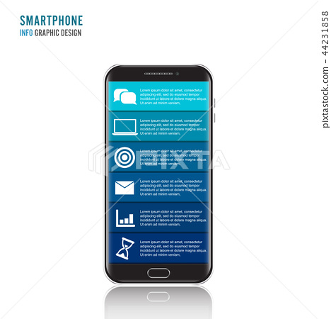 Vector mobile phone for infographic. 44231858