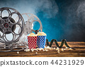 Old style movie reels, close-up. 44231929