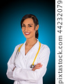 Portrait of attractive young female doctor. 44232079