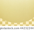 Japanese-Japanese style-Japanese pattern-background-gold leaf-checkered pattern 44232244