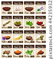 Hot spices for seasonings and condiments poster 44235932