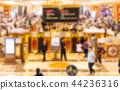 Blurred scene gambling tables at casino 44236316