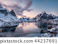 Landscape of scandinavian village in valley 44237691