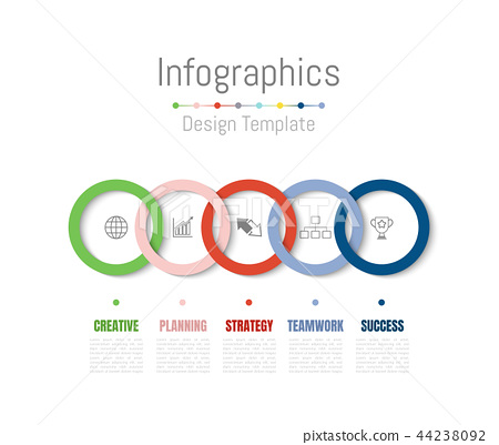 Infographic design elements with 5 options. 44238092