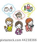 หญิงสาวกำลังดูสมาร์ทโฟน 44238366