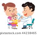 예방 접종 부자 유아 일러스트 44238465