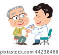 예방 접종 노인 남성 일러스트 44238468