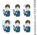 操作智能手机的男学生 44238868