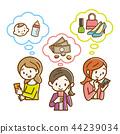 หญิงสาวกำลังดูสมาร์ทโฟน 44239034
