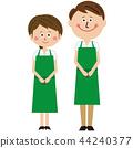 請來看看流行綠色圍裙的男女 44240377