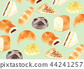 Bread background green 44241257