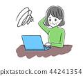 Laptop computer and senior women 44241354