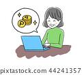 Laptop computer and senior women 44241357