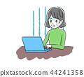 Laptop computer and senior women 44241358