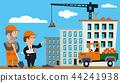 construction, vector, worker 44241938