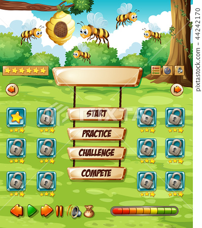 A bee game template 44242170