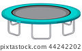 Large trampoline white background 44242202