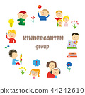 vector kindergarten background 44242610