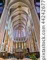 Interior of the Cathedral of Our Lady of Chartres in France 44242677