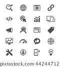 Search engine optimization glyph icons 44244712