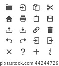Application toolbar glyph icons 44244729
