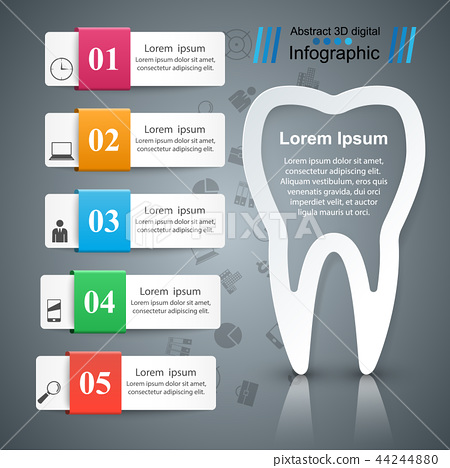Business Infographics. Tooth icon. 44244880
