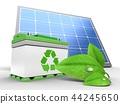 3d, solar, panel 44245650