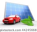 3d, solar, panel 44245668