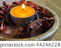 candle light with potpourri. spa and christmas  44246228