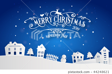Merry Christmas and Happy New Year 2019 44248621