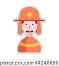 Avatar firefighter flat illustration 44248690