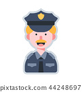 Avatar policeman flat illustration 44248697